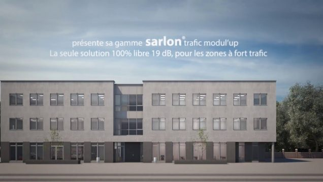 Sarlon trafic modul'up – Pvc acoustique en lés – pose non collée