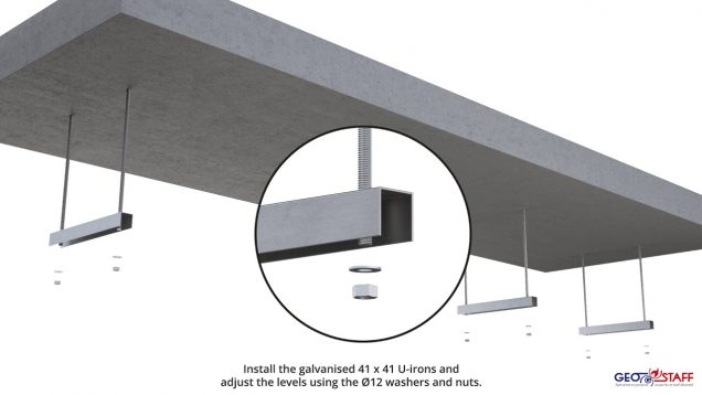 Shafts protection with Geostaff Prefab C-Light channels – Interior dimensions up to 350 x 200 mm